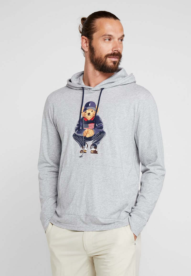Polo Ralph Lauren Golf - HOOD BEAR LONG SLEEVE - Koszulka sportowa - light grey heather