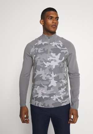 HYBRID LONG SLEEVE - Stickad tröja - grey