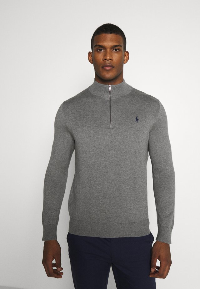 LONG SLEEVE - Stickad tröja - boulder grey heather