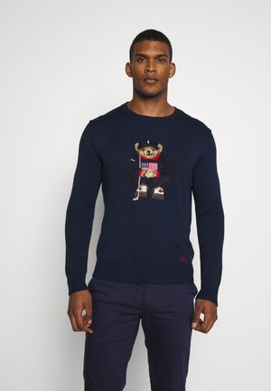 BEAR LONG SLEEVE SWEATER - Pullover - french navy
