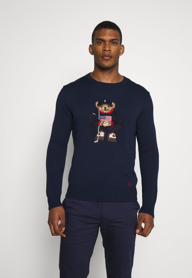 BEAR LONG SLEEVE SWEATER - Strikpullover /Striktrøjer - french navy