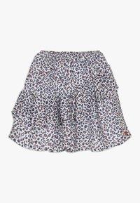 3 Pommes - FLUIDSKIRT FLOUNCED PRINTED - A-line skirt - white - 0