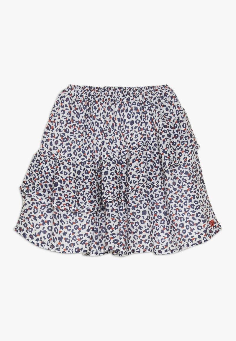 3 Pommes - FLUIDSKIRT FLOUNCED PRINTED - A-line skirt - white