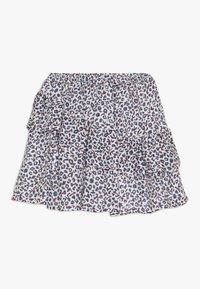 3 Pommes - FLUIDSKIRT FLOUNCED PRINTED - A-line skirt - white - 1