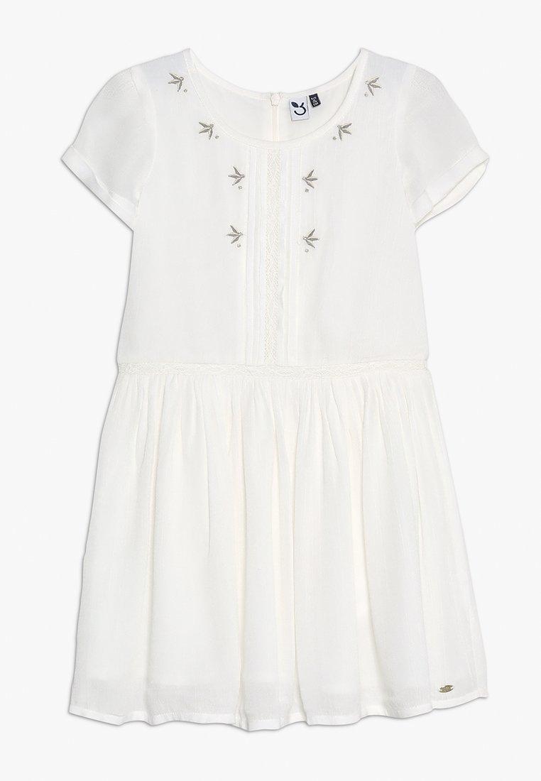 3 Pommes - DRESS MANCHES - Denní šaty - broken white