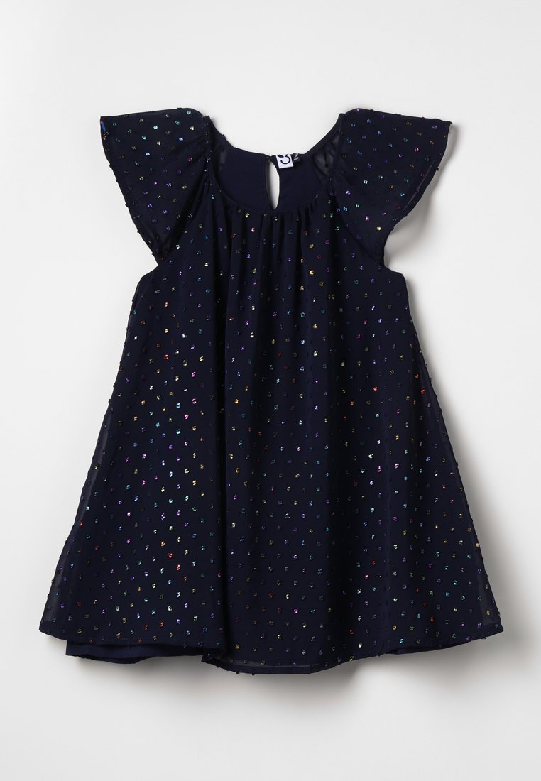 3 Pommes - DRESS MANCHES - Vestido de cóctel - blue