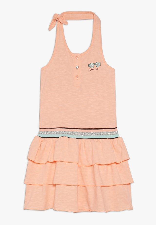 DRESSIN  - Žerzejové šaty - orange fluo