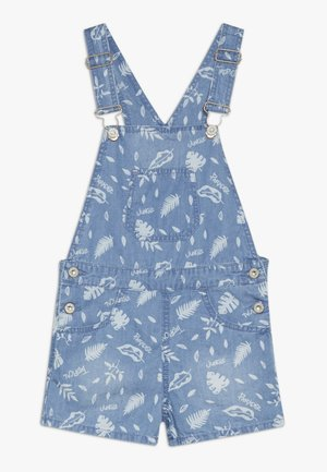 PRINTED DUNGAREES - Salopette - blue sky