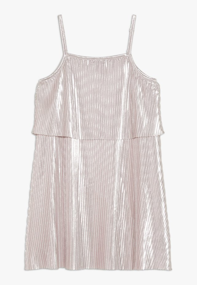SHINY PLEATED DRESS - Cocktail dress / Party dress - pink pale