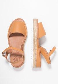 POPA - HURON - Korkeakorkoiset sandaalit - mandorla - 3