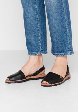 CALIFORNIA - Sandaalit nilkkaremmillä - black