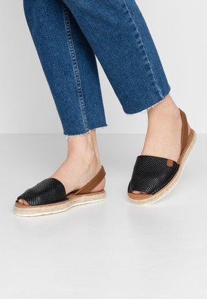 SOLSIDA - Sandaalit nilkkaremmillä - black