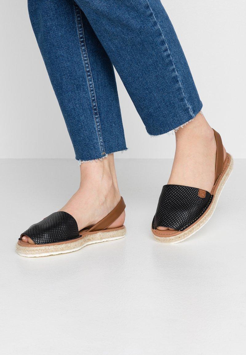POPA - SOLSIDA - Sandaalit nilkkaremmillä - black