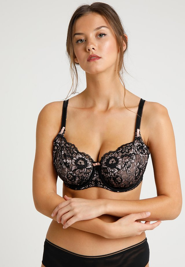 OPULENCE UNDERWIRED BRA - Kaarituelliset rintaliivit - black/pink