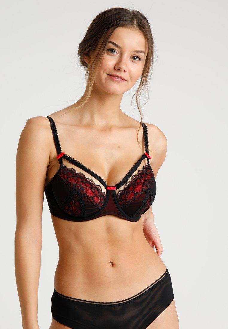 Pour Moi - INSTINCT UNDERWIRED BRA - Soutien-gorge à armatures - black/red