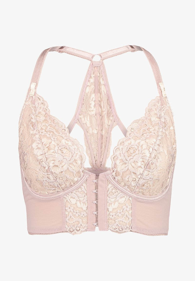 Pour Moi - OPULENCE FRONT FASTENING UNDERWIRED BRALETTE - Underwired bra - mink/oyster
