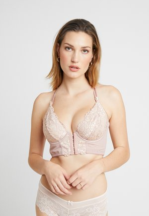 OPULENCE FRONT FASTENING UNDERWIRED BRALETTE - Sujetador con aros - mink/oyster