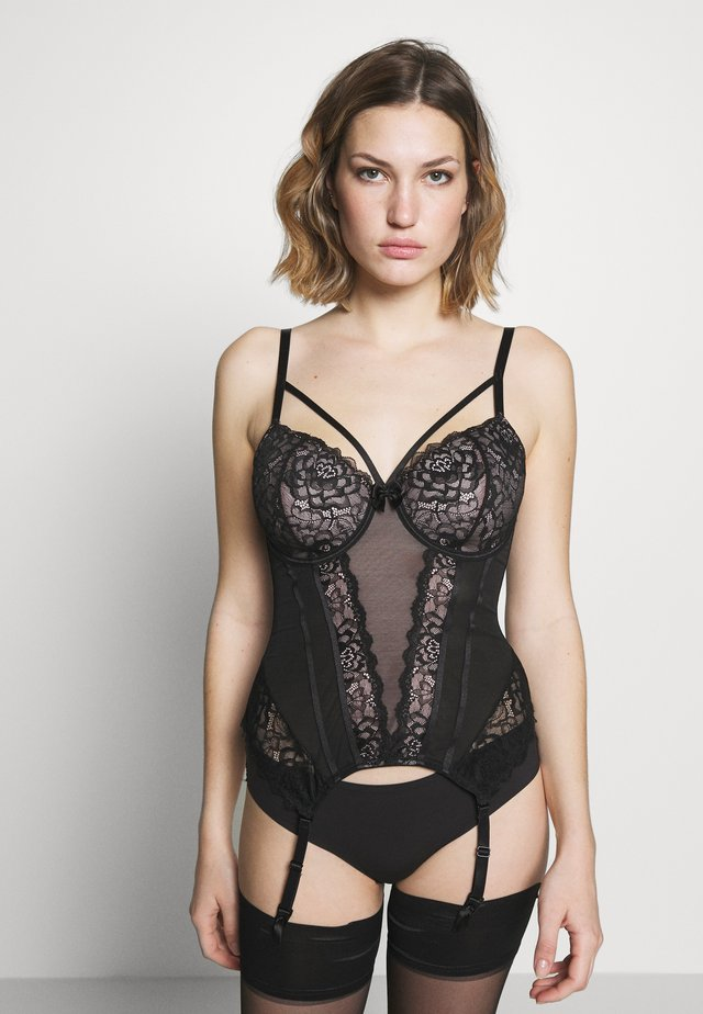 CONFESSION LIGHTLY PADDED UNDERWIRED BASQUE - Korsetti - black