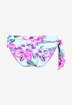 HEATWAVE FOLD OVER TIE BRIEF - Bikinibroekje - aquaburst