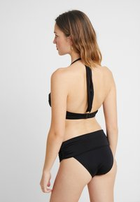 Pour Moi - AZURE FOLDOVER RUCHED BRIEF - Bikini bottoms - black - 2