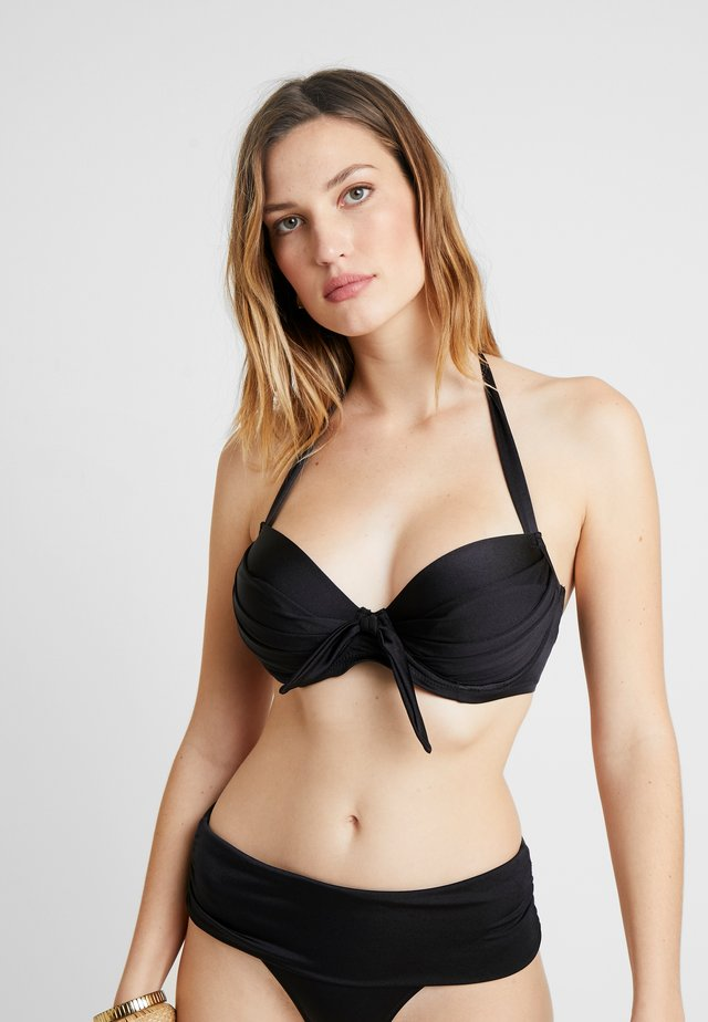 AZURE HALTER LIGHTLY PADDED UNDERWIRED - Bikinitop - black