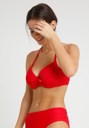 BALI ADJUSTABLE HALTER UNDERWIRED - Bikinitopp - red