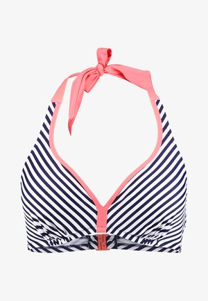 SEA BREEZE HIDDEN TRIANGLE UNDERWIRED - Bikinitop - navy/coral