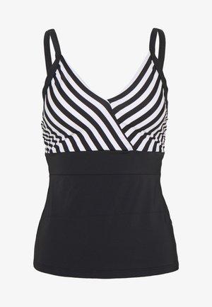 CAPRI STRIPE TANKINI - Bikinitop - black