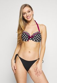 Pour Moi - SEA BREEZE LIGHTLY PADDED HALTER UNDERWIRED - Bikini top - black - 1