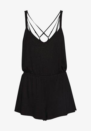 SOFA LOVE DOUBLE STRAP PLAYSUIT - Pyjamaser - black