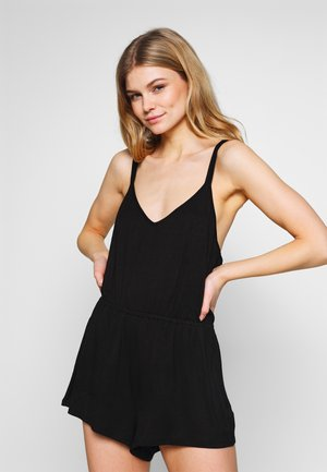 SOFA LOVE DOUBLE STRAP PLAYSUIT - Pigiama - black