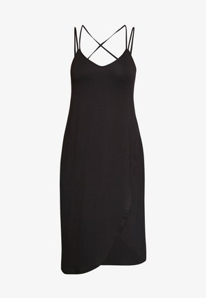 SOFA LOVE SECRET SUPPORT MIDI CROSS BACK CHEMISE - Noční košile - black