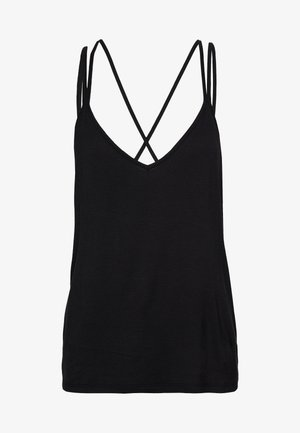 DOUBLE STRAP CAMISOLE - Pyjamasoverdel - black