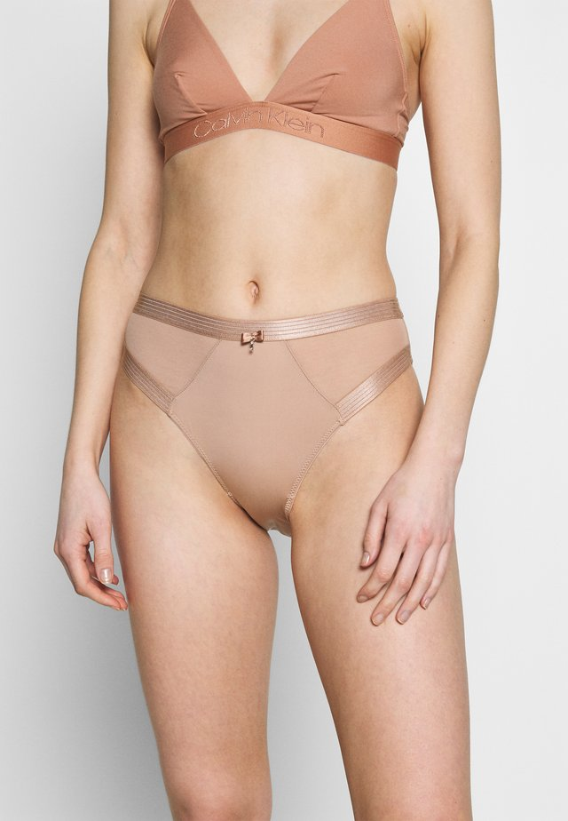 VIVA LUXE HIGH LEG BRIEF - Figi - beige