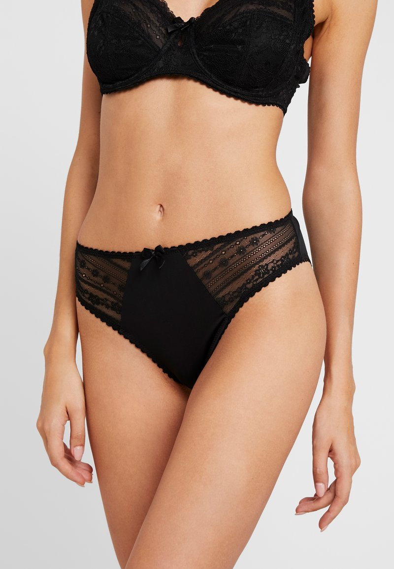 Pour Moi - REMIX HIGH LEG BRIEF - Kalhotky/slipy - black