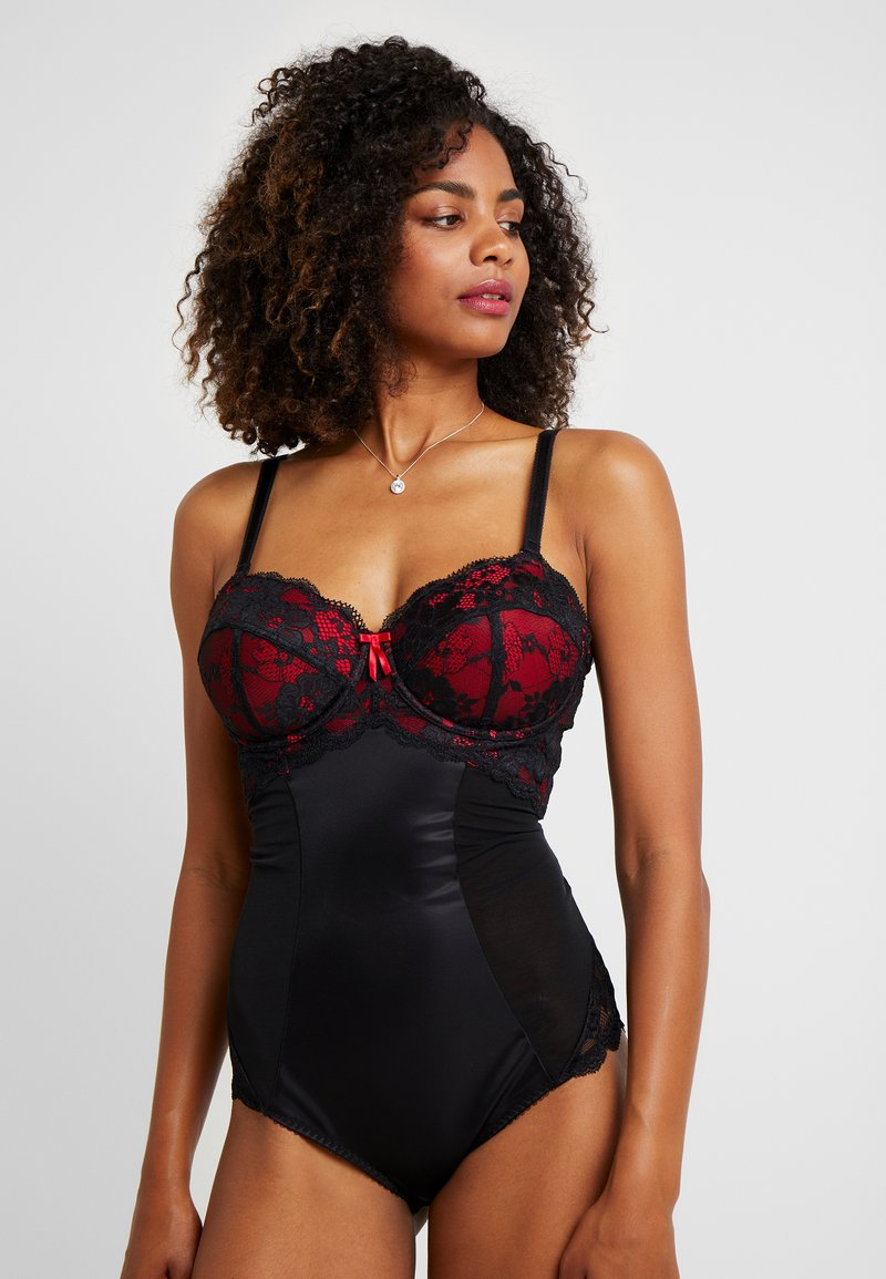 Pour Moi - AMOUR STRAPLESS LIGHTLY PADDED UNDERWIRED - Body - black/scarlet