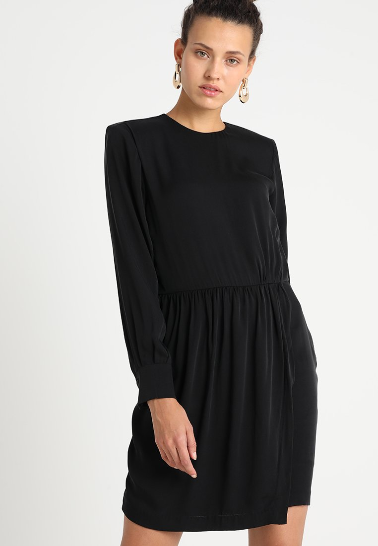 POSTYR - POSELENEA SOLID DRESS - Day dress - black