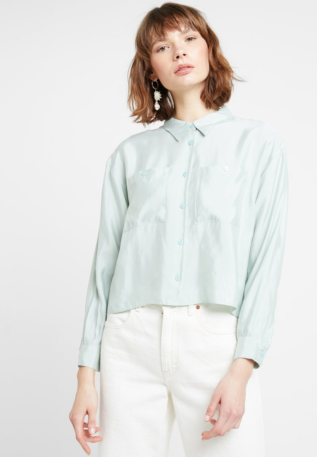 POSAUGUSTA - Button-down blouse - seafoam green