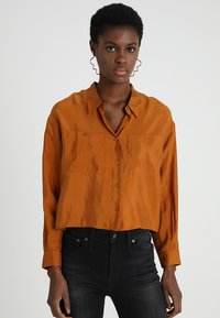 POSTYR - POSAUGUSTA - Button-down blouse - cathay spice - 0