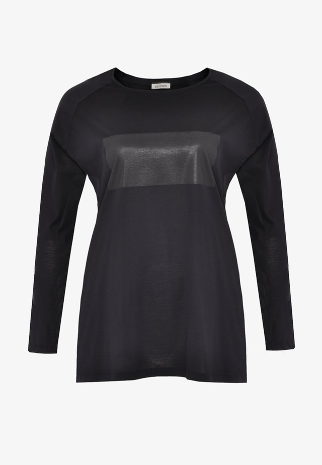MIT DRUCK - T-shirt à manches longues - navy