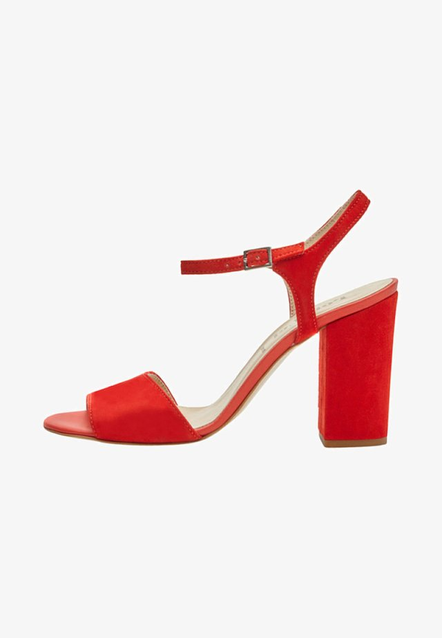 SENTA - High heeled sandals - red