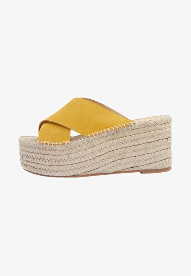 IBIA - Heeled mules - yellow