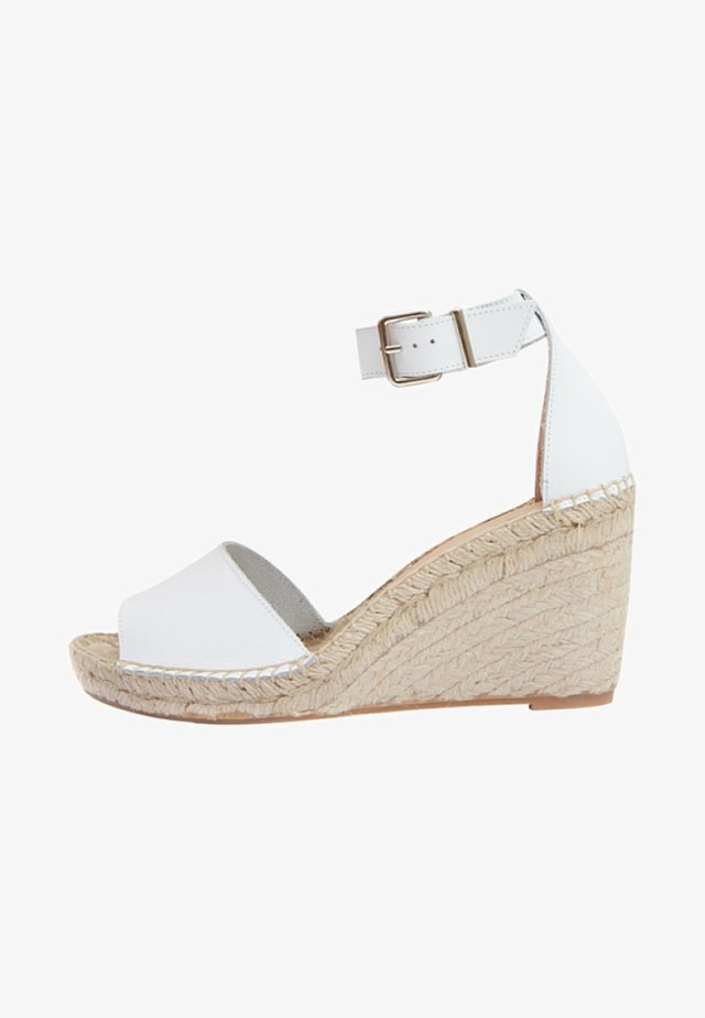 LEONA - Wedge sandals - white