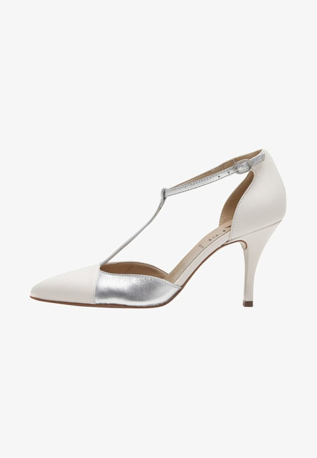 PALOMA - High heels - white/silver-coloured