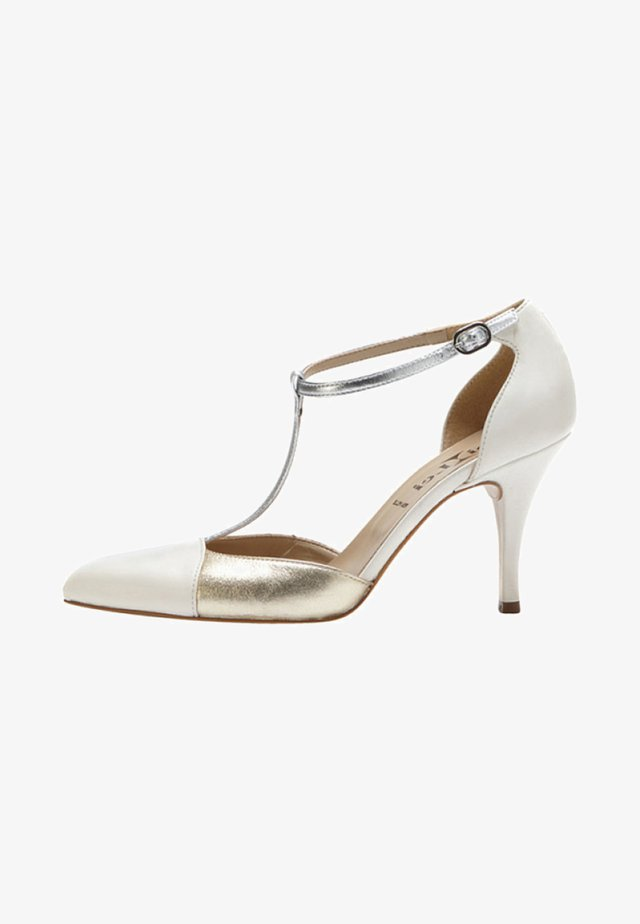 PALOMA - High heels - silver/off-white/gold