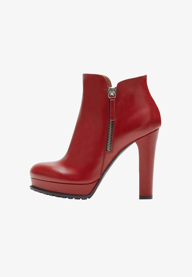 ZOE - High Heel Stiefelette - red