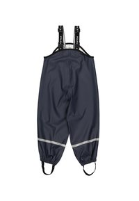 Polarn O. Pyret - WATERPROOF  WITH SUSPENDERS - Rain trousers - dark sapphire - 0