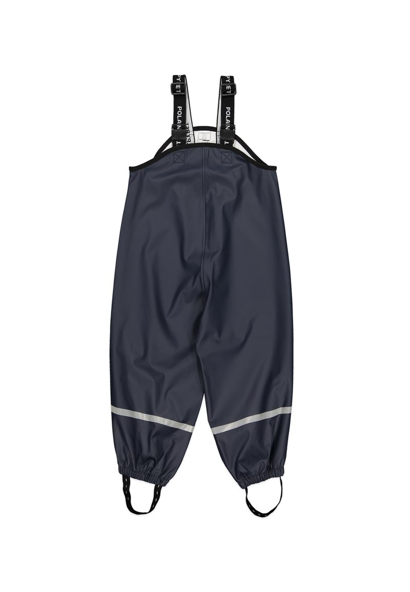 Polarn O. Pyret - WATERPROOF  WITH SUSPENDERS - Rain trousers - dark sapphire