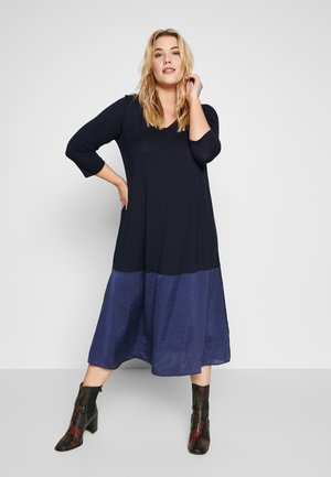 OPEN - Jersey dress - marine blue