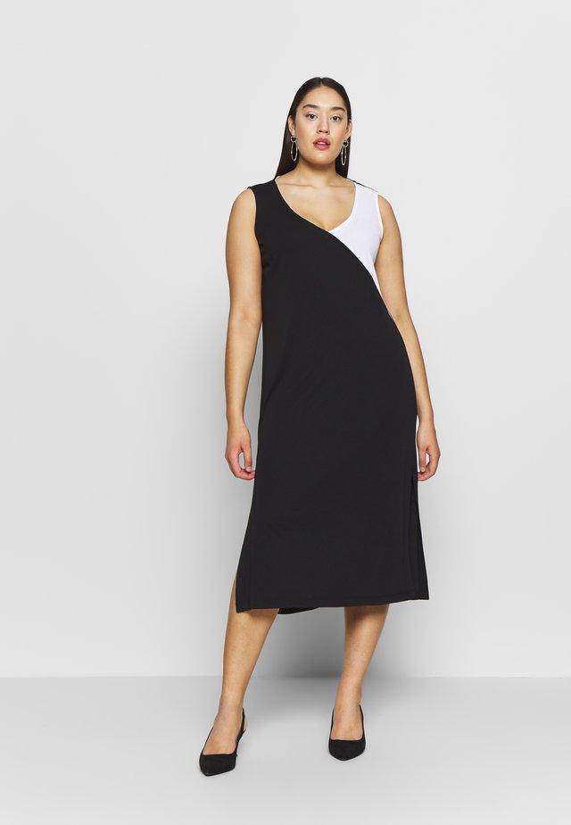 OFFSET - Sukienka z dżerseju - nero